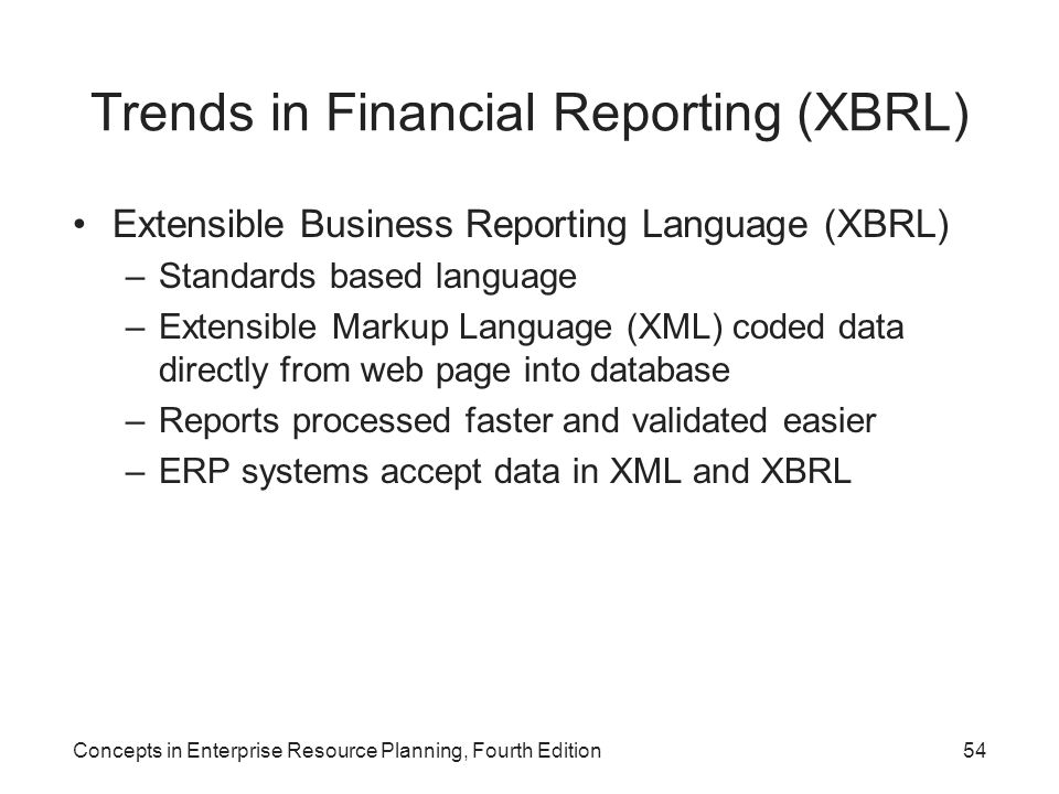 Trends in Financial Reporting (XBRL)
