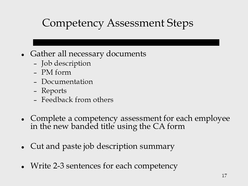 Competency Assessment Training  Ppt Video Online Download