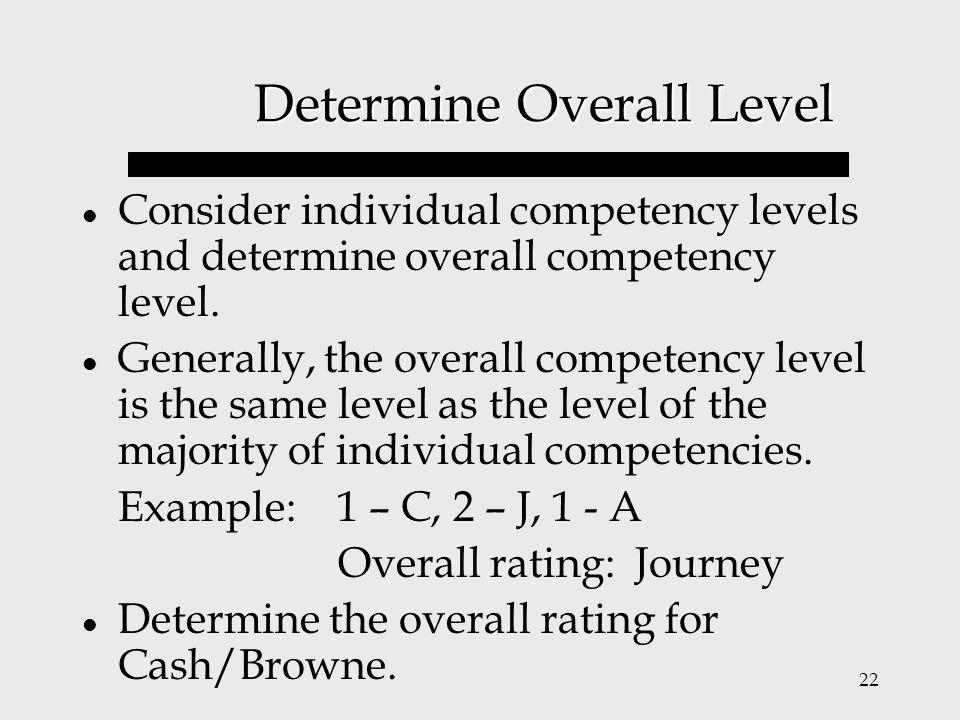 Determine Overall Level