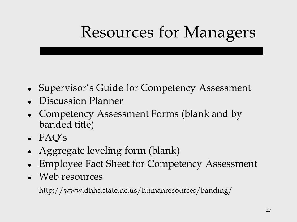 Resources for Managers