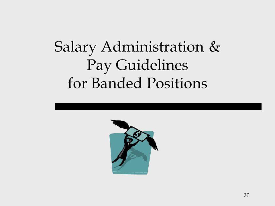 Salary Administration & Pay Guidelines for Banded Positions