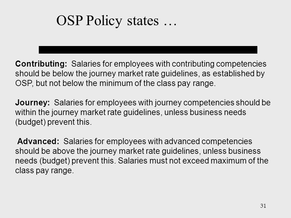 OSP Policy states …