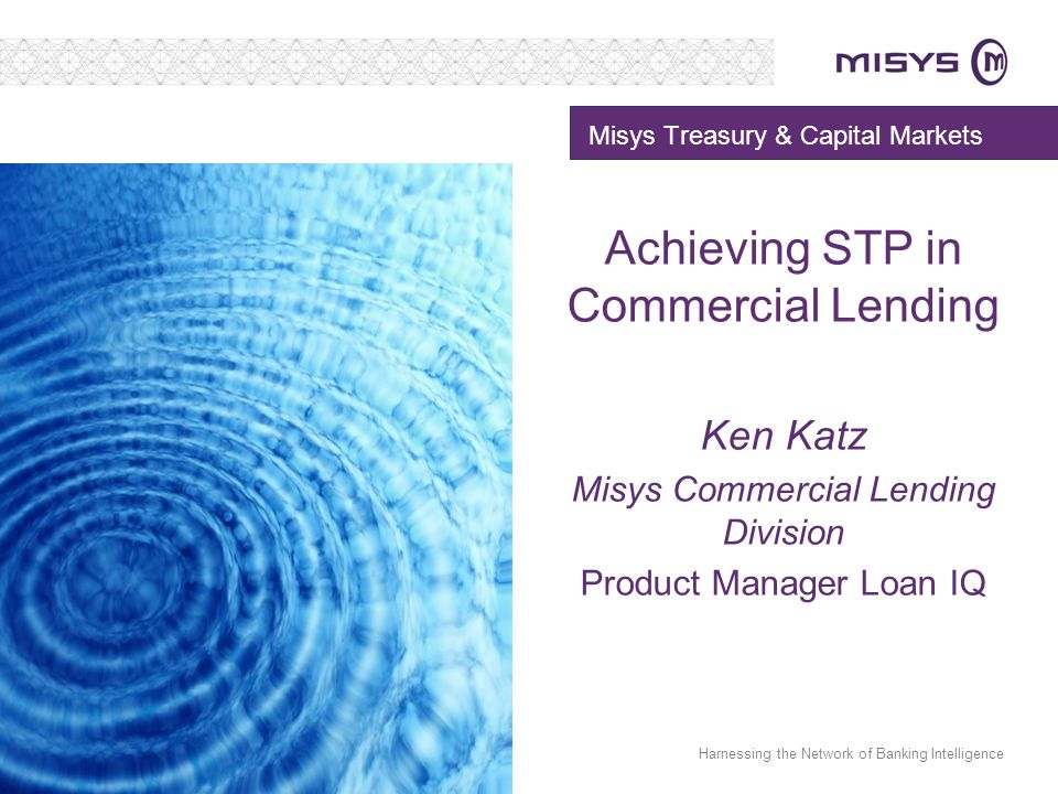 Misys Treasury & Capital Markets
