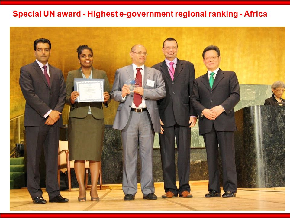 Special UN award - Highest e-government regional ranking - Africa