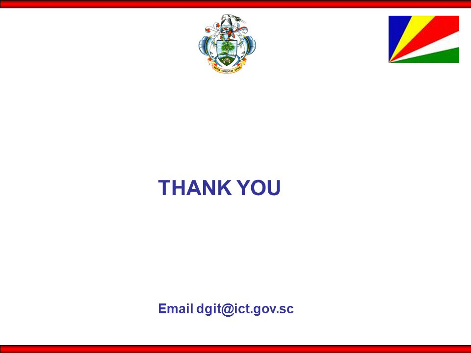 THANK YOU Email dgit@ict.gov.sc