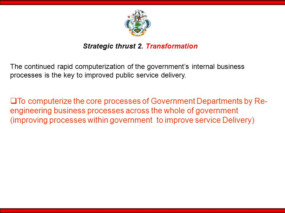 Strategic thrust 2. Transformation