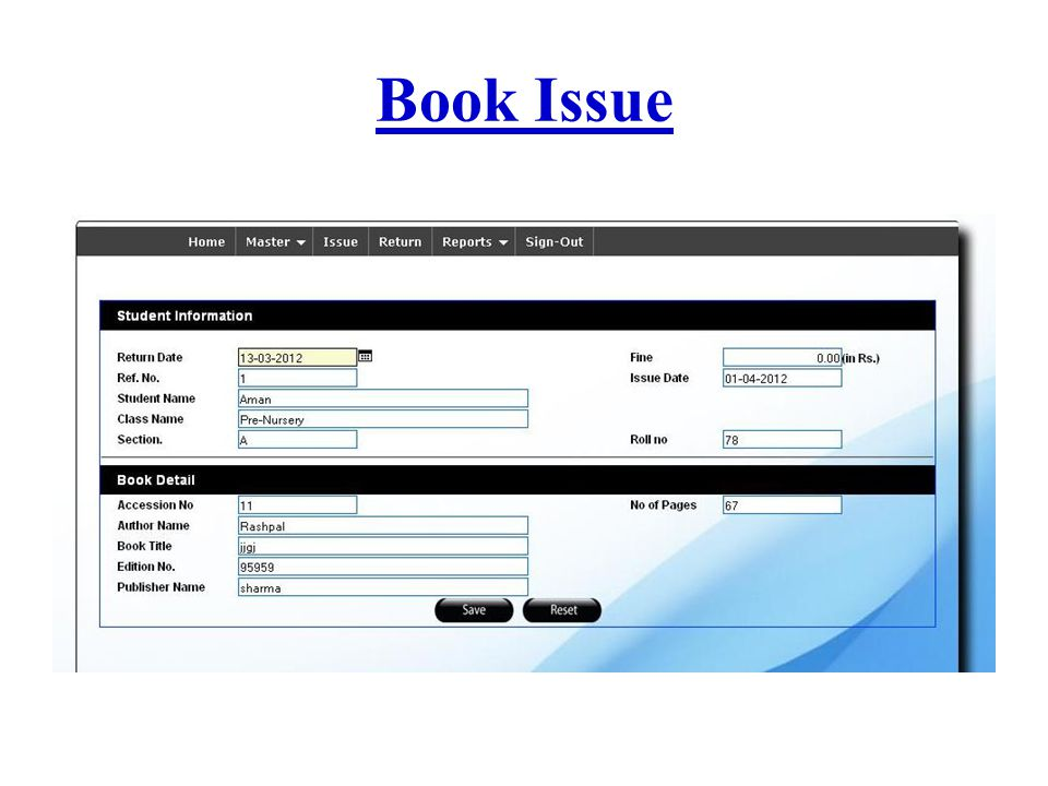Book Issue
