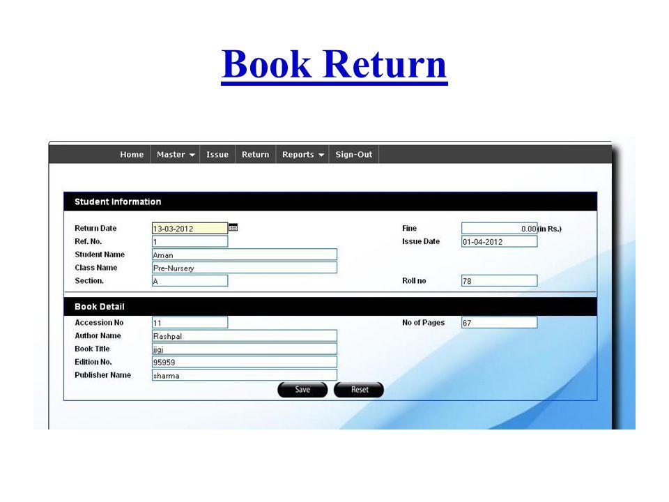 Book Return