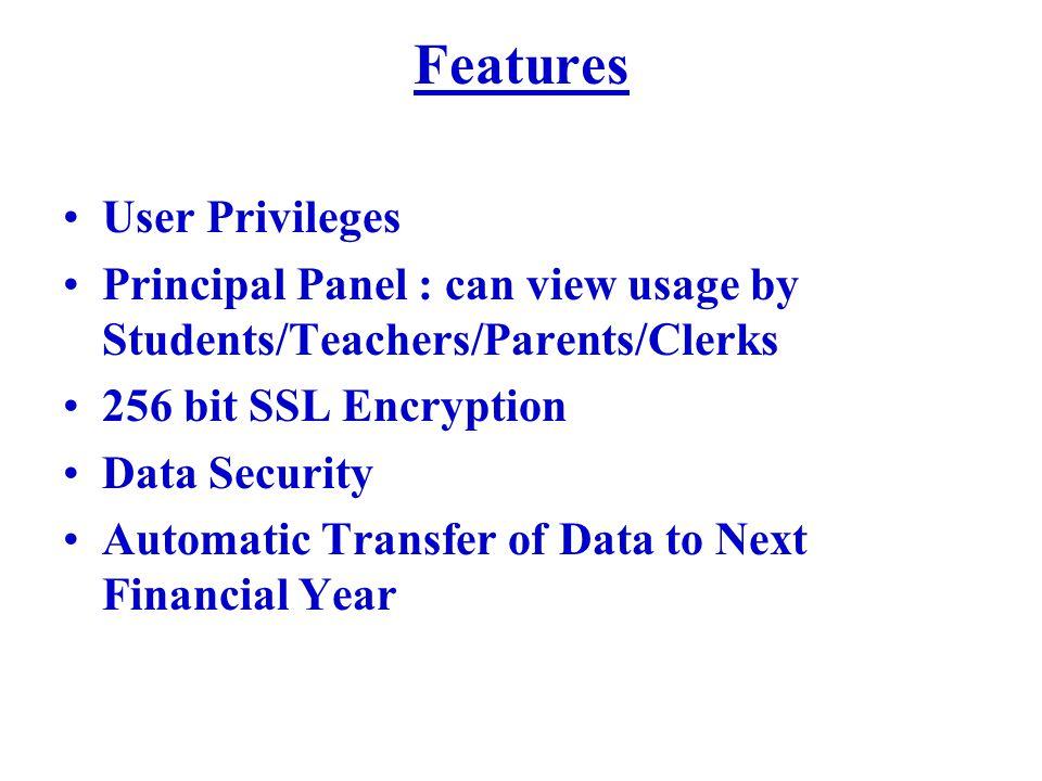 Features User Privileges