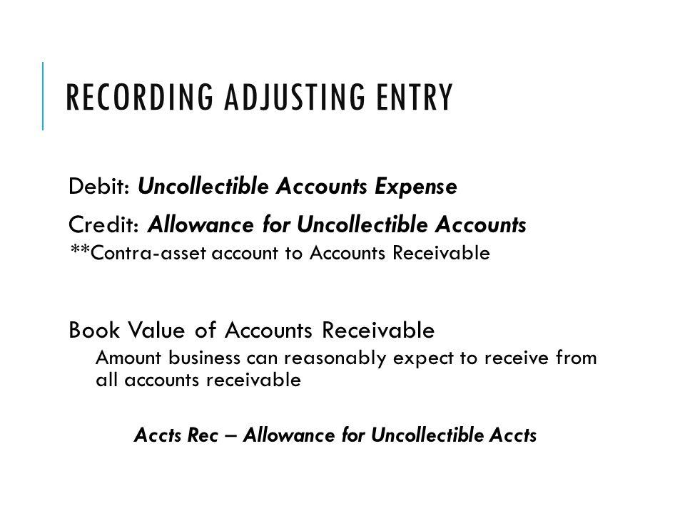 Recording Adjusting Entry