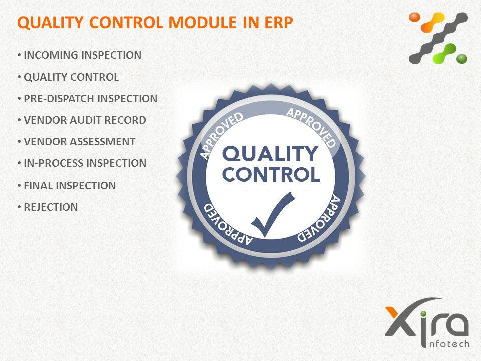 QUALITY CONTROL MODULE IN ERP