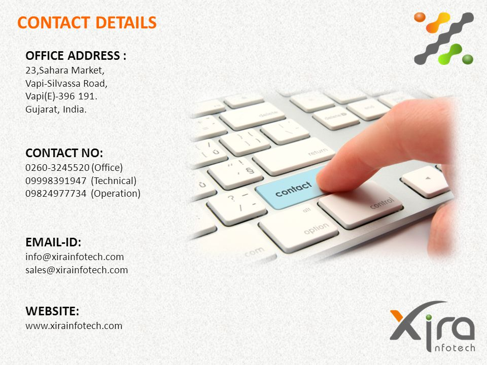 CONTACT DETAILS OFFICE ADDRESS :