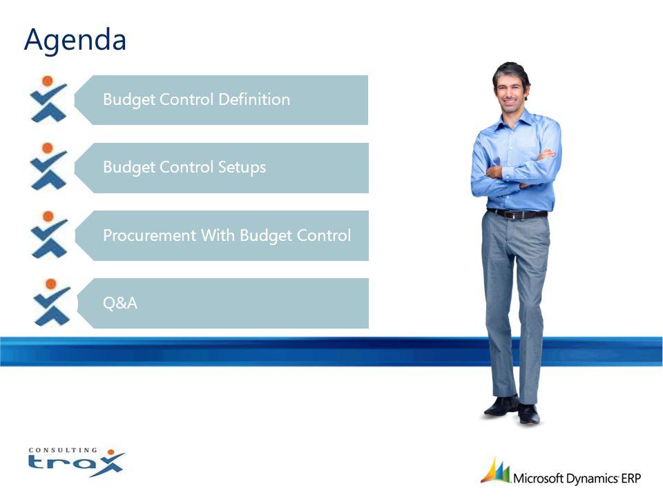 Agenda Budget Control Definition Budget Control Setups