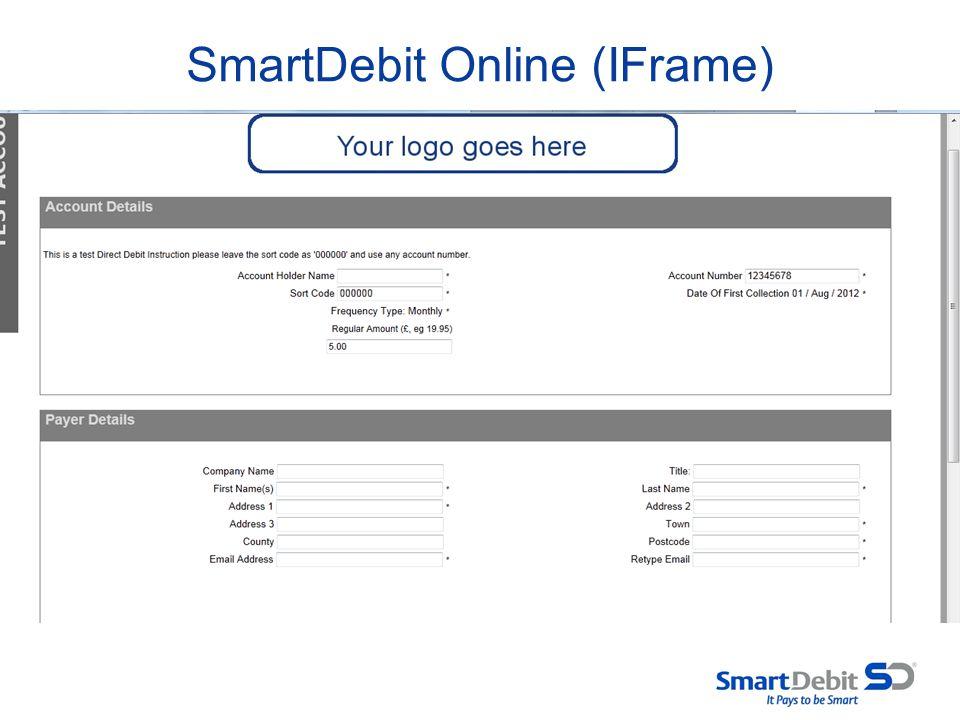 SmartDebit Online (IFrame)