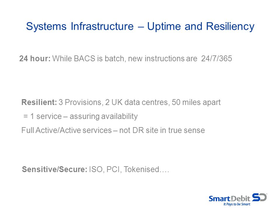 Systems Infrastructure – Uptime and Resiliency