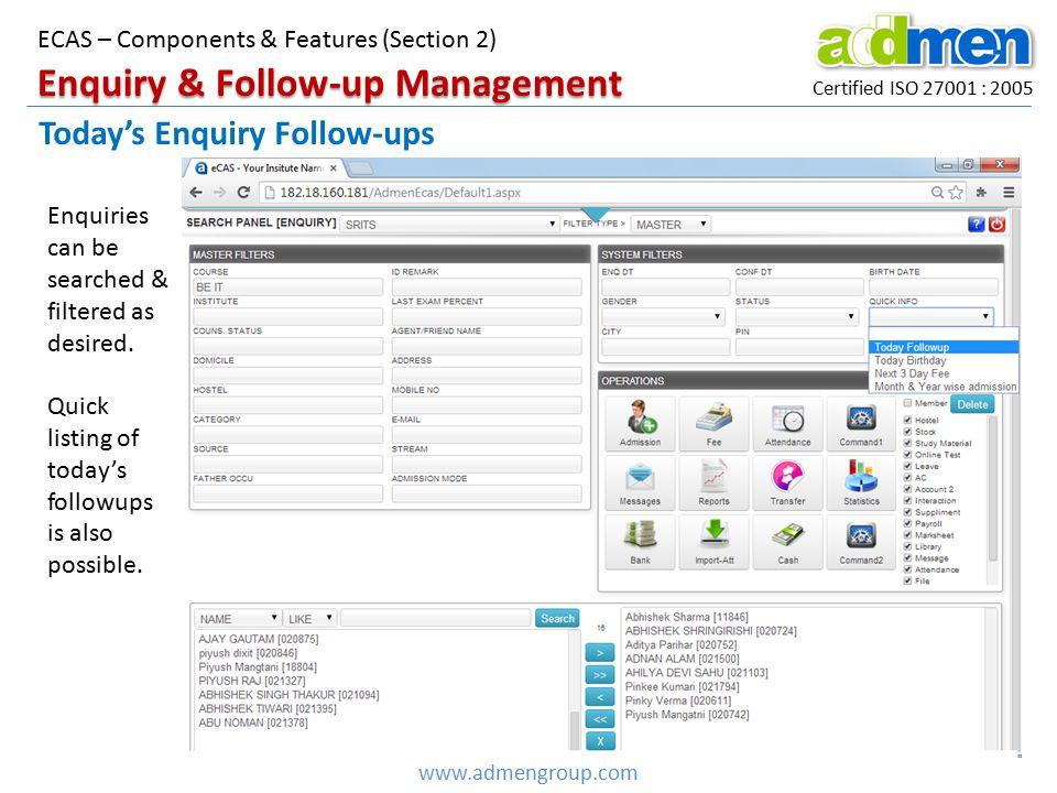 Enquiry & Follow-up Management