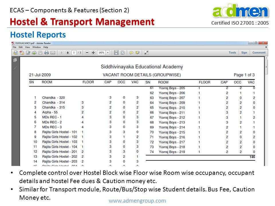 Hostel & Transport Management