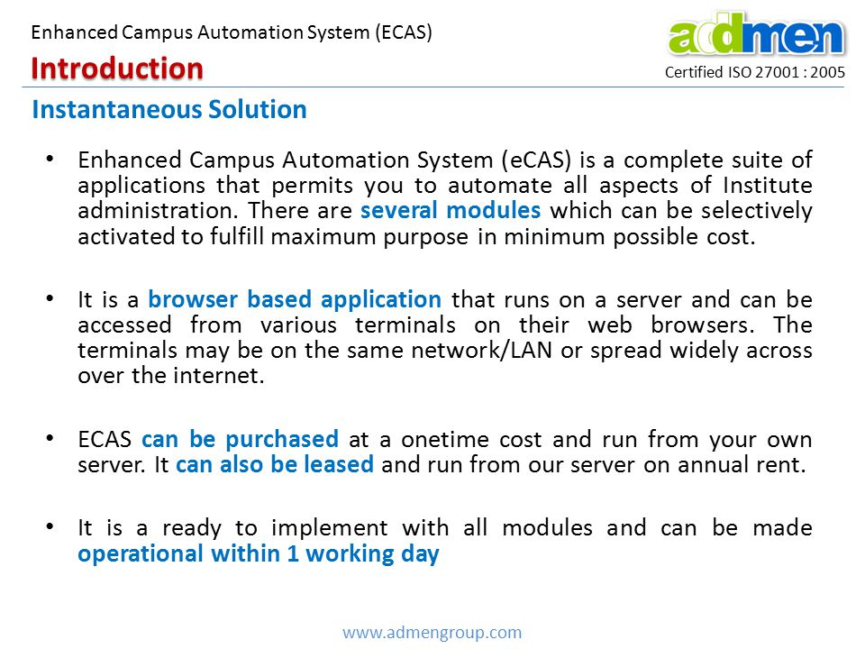 Introduction Instantaneous Solution