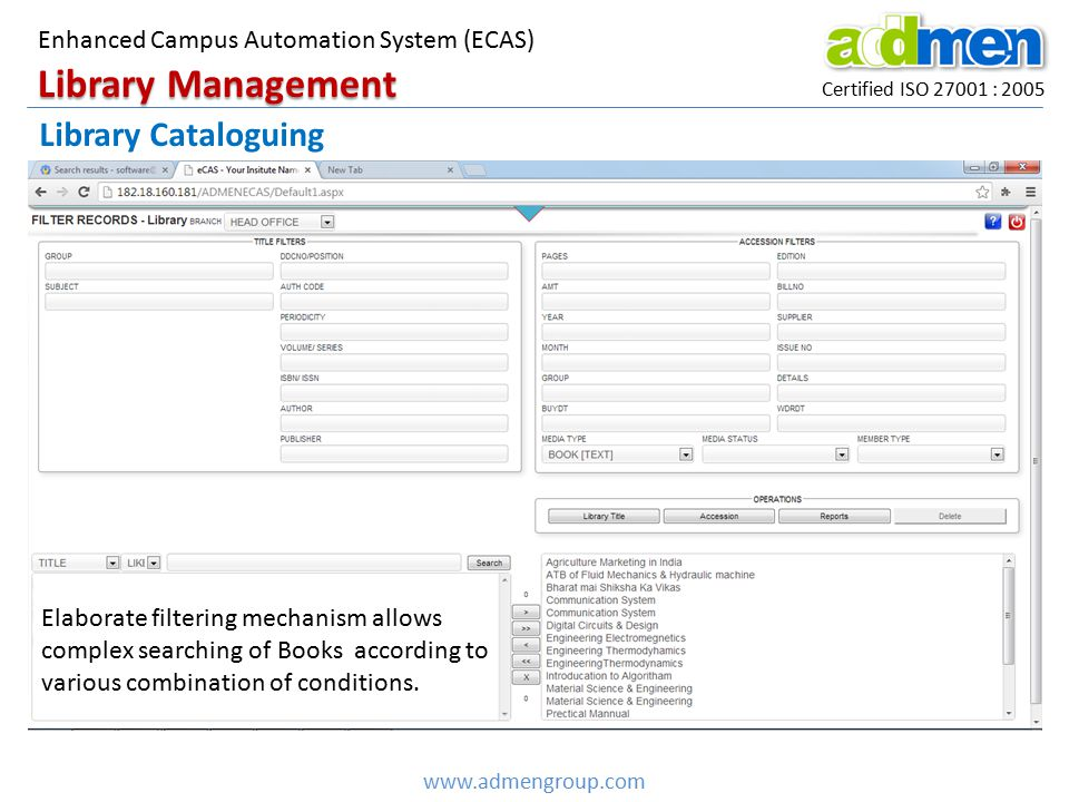 Library Management Library Cataloguing