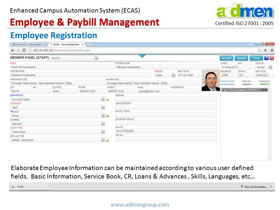 Employee & Paybill Management