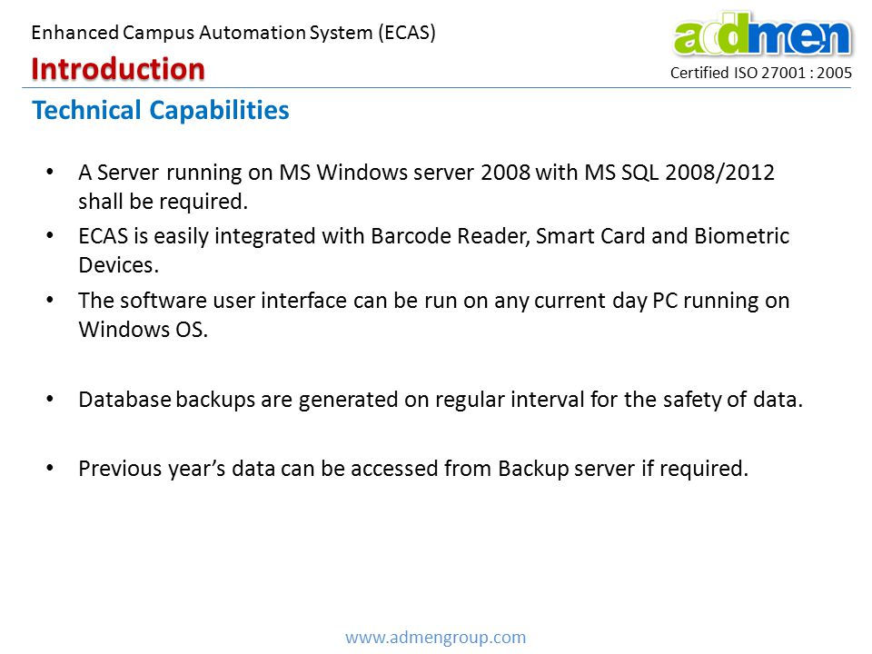 Introduction Technical Capabilities