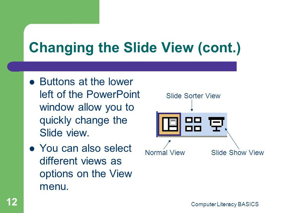 Changing the Slide View (cont.)