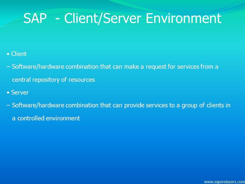 SAP - Client/Server Environment