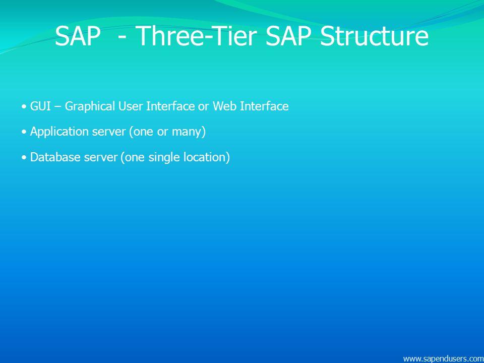 SAP - Three-Tier SAP Structure