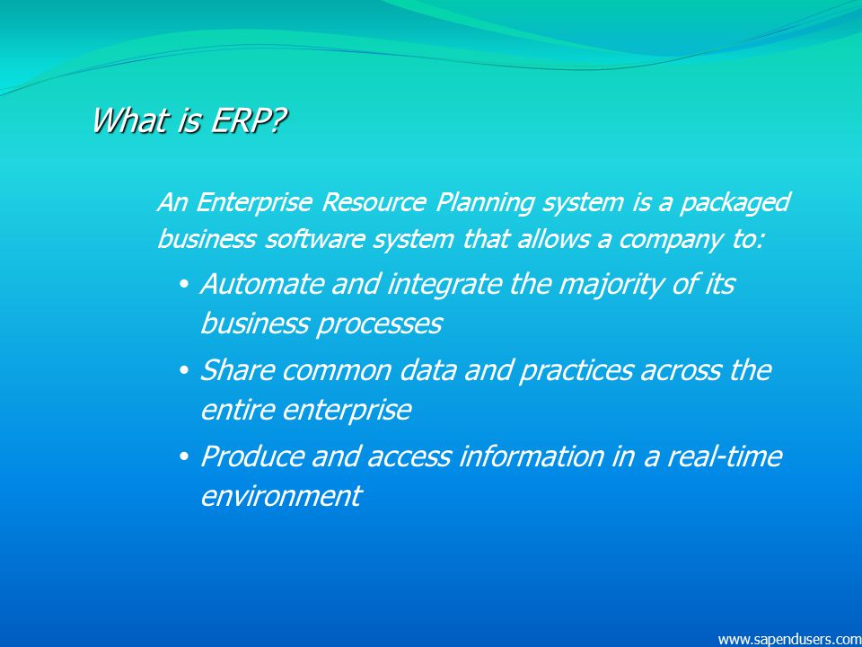 what is erp system software
