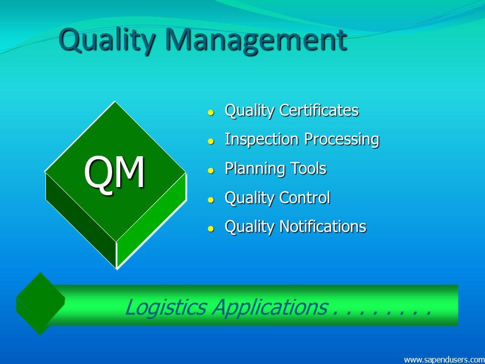 Logistics Applications . . . . . . . .