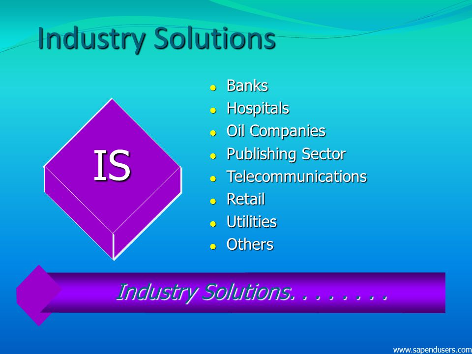 IS Industry Solutions Industry Solutions. . . . . . . . Banks