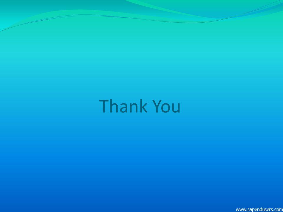 Thank You www.sapendusers.com