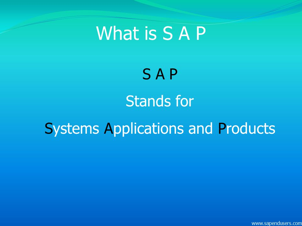 Systems Applications and Products