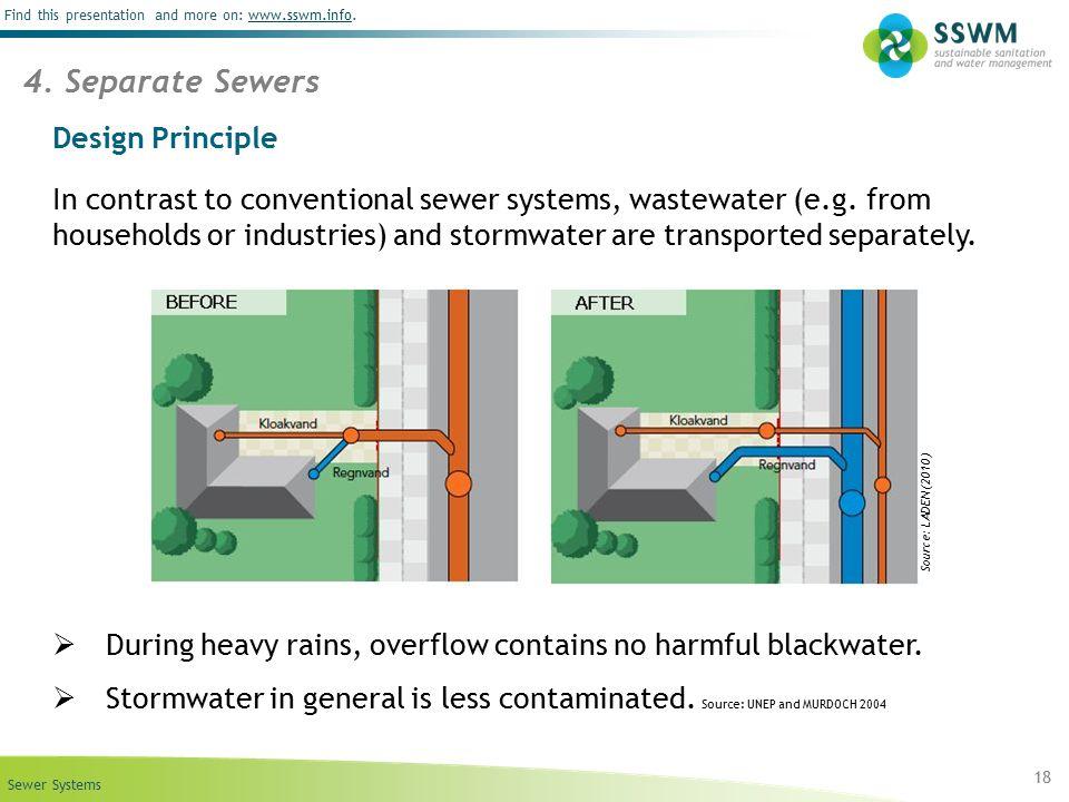 4. Separate Sewers Design Principle
