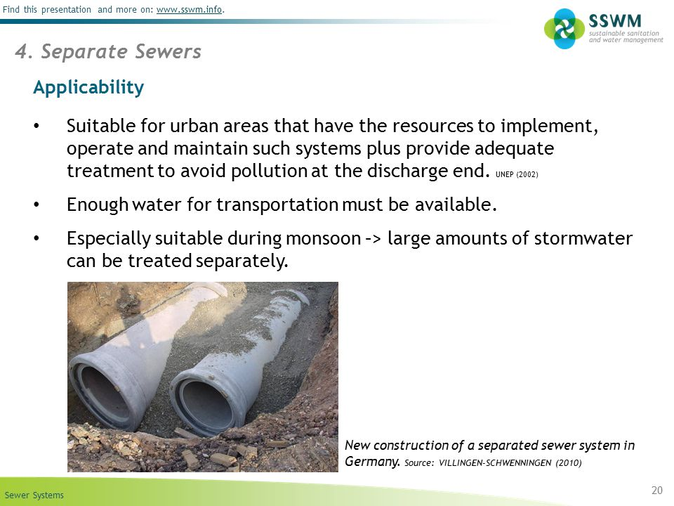 4. Separate Sewers Applicability