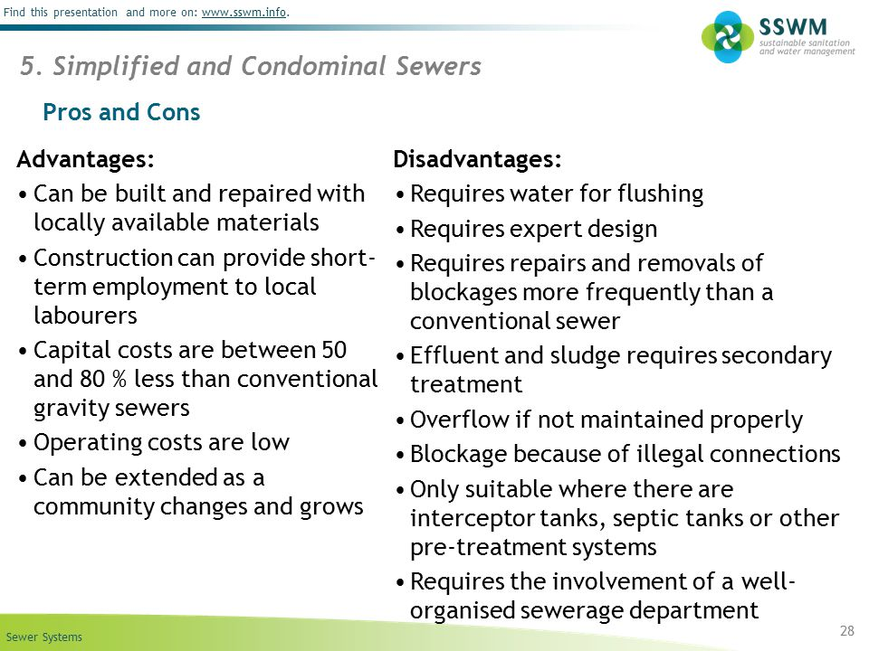 5. Simplified and Condominal Sewers