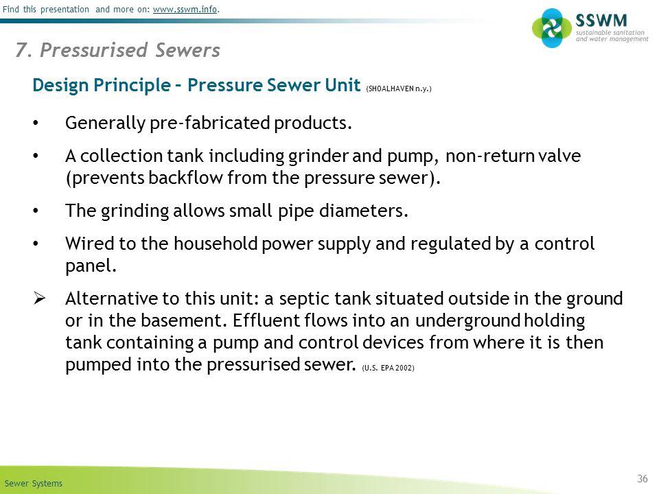 Design Principle – Pressure Sewer Unit (SHOALHAVEN n.y.)