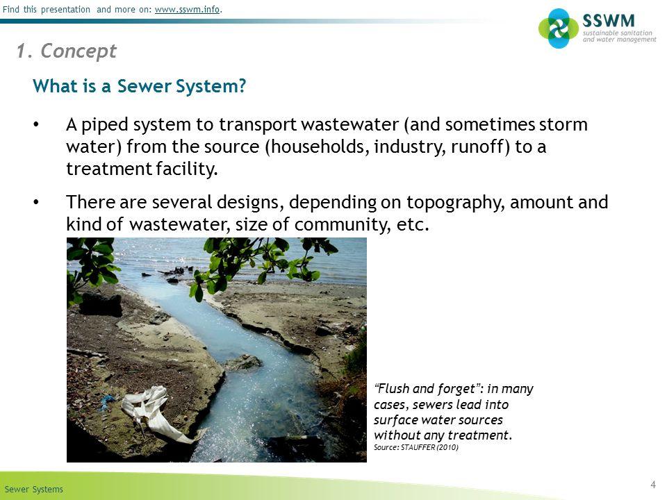 1. Concept What is a Sewer System