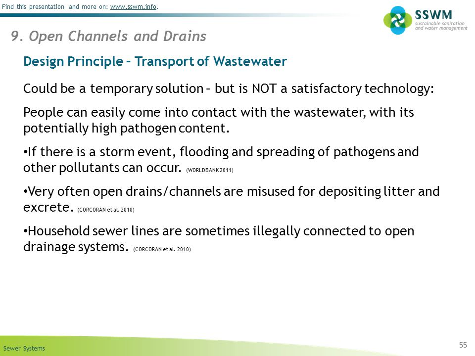 Design Principle – Transport of Wastewater