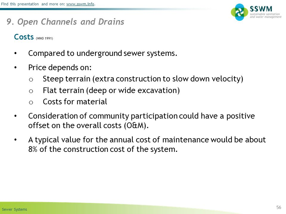 9. Open Channels and Drains