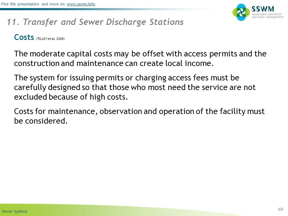 11. Transfer and Sewer Discharge Stations