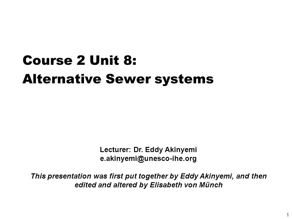 Lecturer: Dr. Eddy Akinyemi