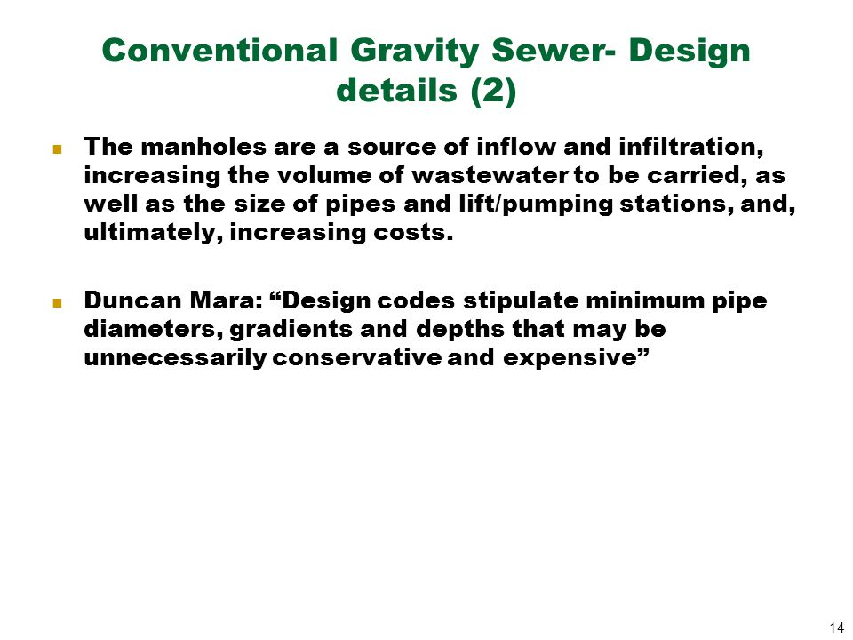 Conventional Gravity Sewer- Design details (2)