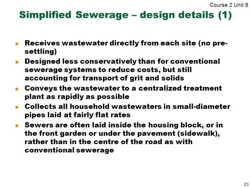 Simplified Sewerage – design details (1)