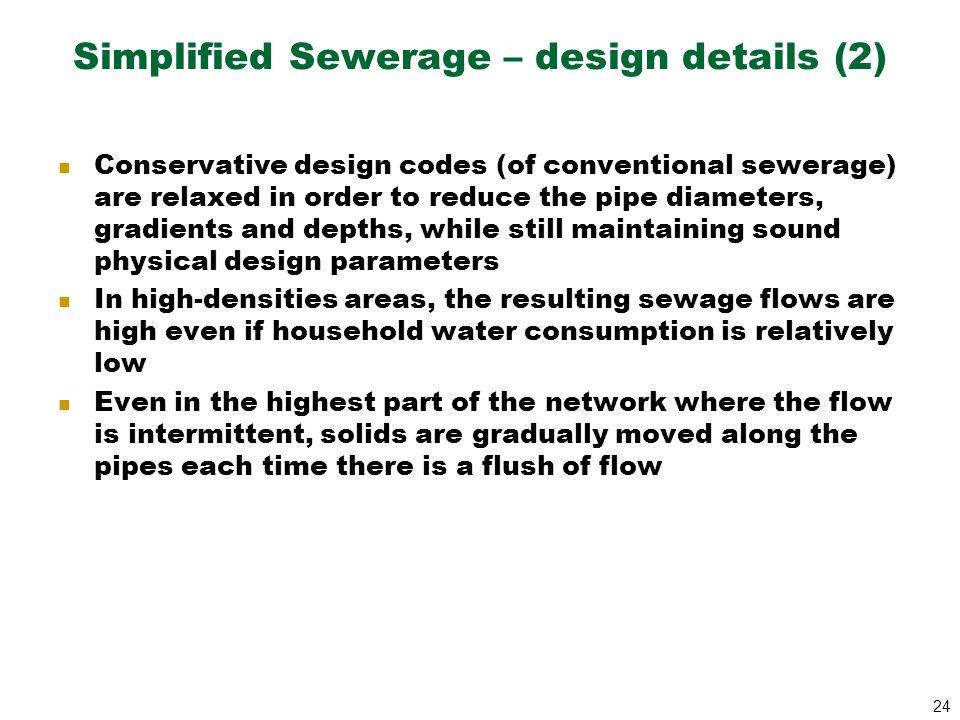 Simplified Sewerage – design details (2)
