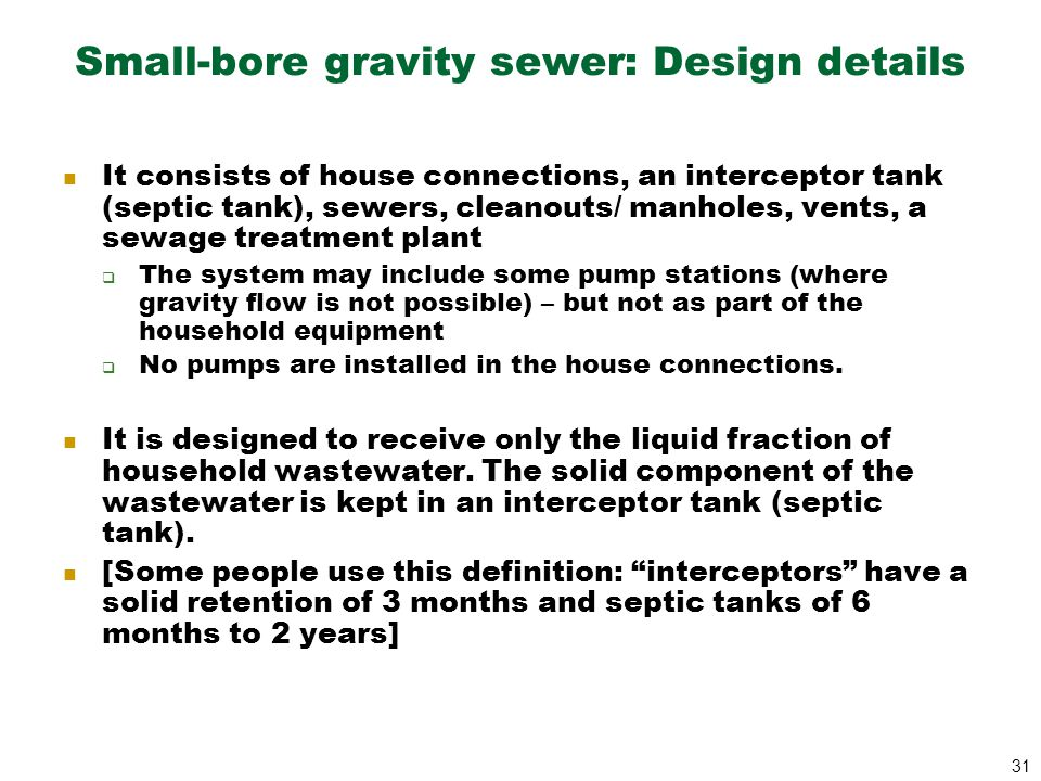 Lecturer dr eddy akinyemi ppt download for Gravity septic system design