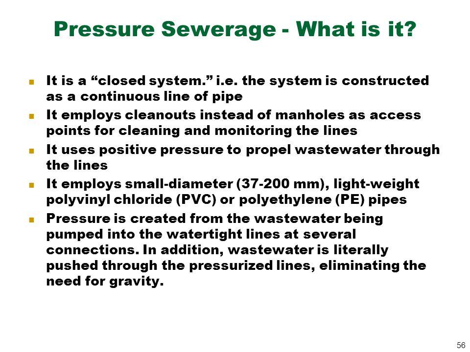 Pressure Sewerage - What is it