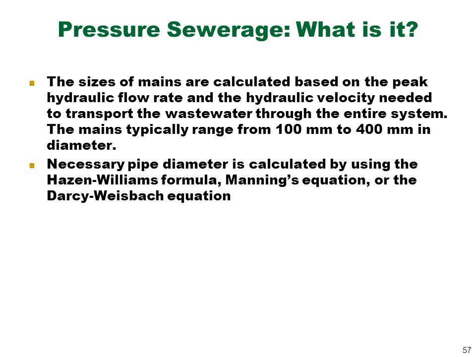 Pressure Sewerage: What is it