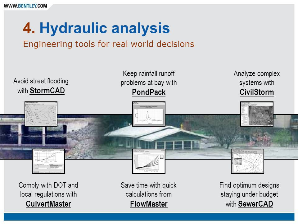 4. Hydraulic analysis Engineering tools for real world decisions
