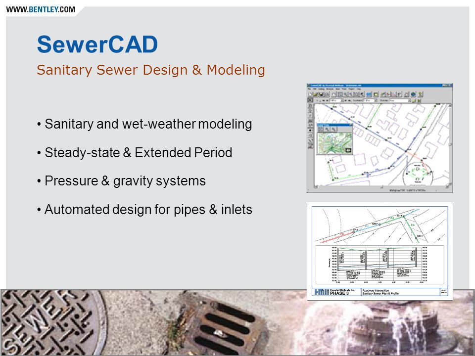 SewerCAD Sanitary Sewer Design & Modeling